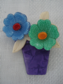 Flower Pot Brooch by Lea Stein of Paris (Sold)